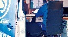 Einblick in einen DreiS Dienstwagen bei der Arbeit